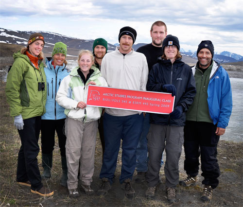 Professors and Students at the Arctic National Wildlife Refuge